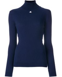 Courreges - Cotton And Cashmere-blend Sweater - Lyst