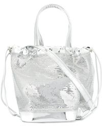 Paco Rabanne - Mirrored Bucket Bag - Lyst