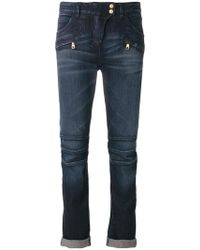 Balmain - Classic Cropped Jeans - Lyst