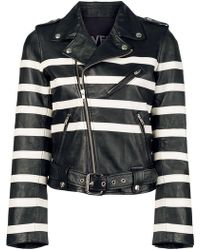 Each x Other - Striped Print Biker Jacket - Lyst