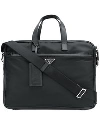 Prada - Zipped Briefcase - Lyst