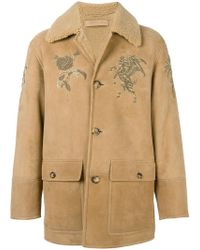 Alexander McQueen - Embroidered Shearling Coat - Lyst