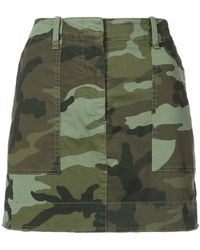 Nili Lotan - Camouflage Print Mini Skirt - Lyst