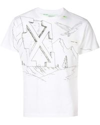 Off-White c/o Virgil Abloh - Diagonal Eagle Print T-shirt - Lyst