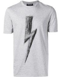 Neil Barrett - T-Shirt mit Blitzmotiv - Lyst