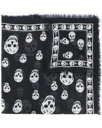Alexander McQueen - Classic Skull Scarf - Lyst
