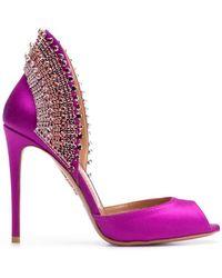 Aquazzura - Embellished Back Sandals - Lyst