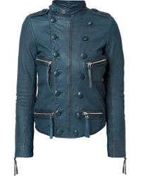 Faith Connexion - Double-breasted Effect Biker Jacket - Lyst