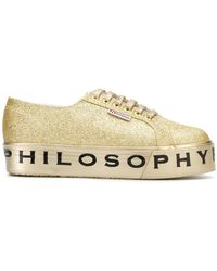 Philosophy Di Lorenzo Serafini - Superga Flatform Glitter Sneakers - Lyst