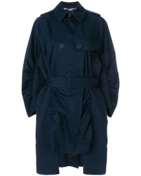 Stella McCartney - Ruched Trench Coat - Lyst