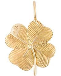 Aurelie Bidermann - 18kt Yellow Gold 'clover' Pendant - Lyst