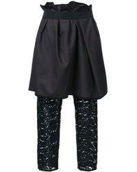 Kolor - Layered Draped Trousers - Lyst