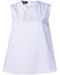 Rochas - Striped Bow Top - Lyst