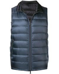 Herno - Zipped Padded Vest - Lyst
