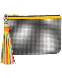 Pierre Hardy - Chequered Print Pouch Clutch Bag With Tassel Detail - Lyst
