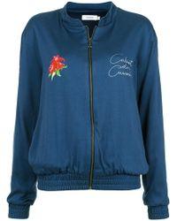 Isolda - Floral Print Bomber Jacket - Lyst