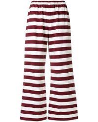 Aspesi - Striped Wide-leg Trousers - Lyst