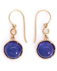 Irene Neuwirth - Tanzanite And Diamond Drop Earrings - Lyst