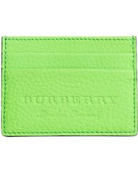 Burberry - Logo Embossed Card Case - Lyst