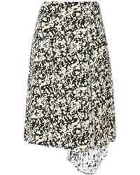 Proenza Schouler - Pleated Floral Print Skirt - Lyst