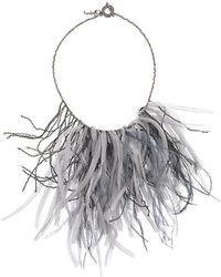 Fabiana Filippi - Fringed Feather Necklace - Lyst