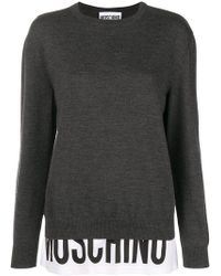 Moschino - Branded Panel Jumper - Lyst