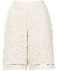 See By Chloé - Crochet Shorts - Lyst