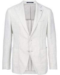 Tagliatore - Knitted Single Breasted Blazer - Lyst