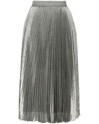 Christopher Kane - Silver Tone Pleated Skirt - Lyst