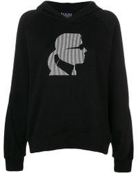 Karl Lagerfeld - Sudadera Ikonik Karl con capucha - Lyst