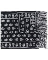 Alexander McQueen - Skull Patterned Scarf - Lyst