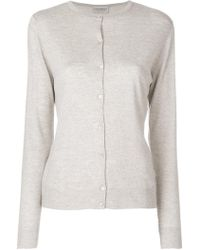 John Smedley - Button-down Fitted Cardigan - Lyst