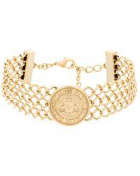 Balmain - Gold Metal Necklace - Lyst