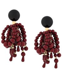 Marni - Beaded Cluster Pendant Earrings - Lyst