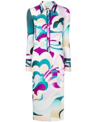 Emilio Pucci - Psychedelic Print Shirt Dress - Lyst