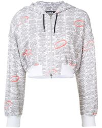 Jeremy Scott - Zip Up Printed Hoodie - Lyst