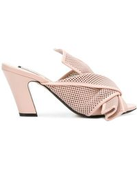 N°21 - Perforated Bow Detail Mules - Lyst