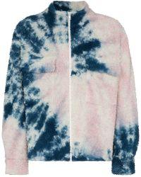 The Elder Statesman - Tie Dye Fleece Zipper Bomber Jacket - Lyst