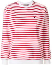 Carhartt - Striped Logo Jumper - Lyst