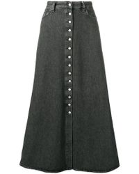 MM6 by Maison Martin Margiela - Button-up Denim Skirt - Lyst