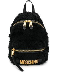 Moschino - Furry Backpack - Lyst
