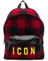 DSquared² - Plaid Icon Backpack - Lyst