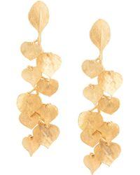 Kenneth Jay Lane - Leaf Drop Earrings - Lyst