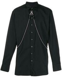DSquared² チェーンディテール シャツ - ブラック