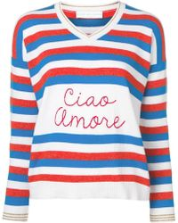 Giada Benincasa - Ciao Amore V-neck Striped Jumper - Lyst