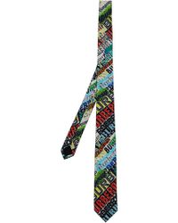 Burberry - Slim Cut Tag Print Tie - Lyst