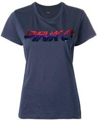 Pinko - Sequinned Crew Neck T-shirt - Lyst