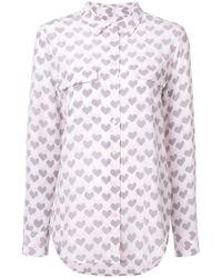Equipment - Love Heart Printed Shirt - Lyst