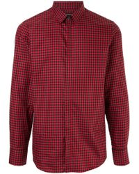 Loveless - Checked Fitted Shirt - Lyst