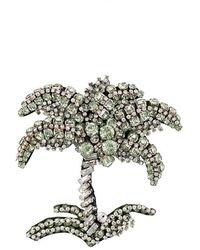 N°21 - Embellished Palm Tree Brooch - Lyst